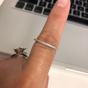 Sillada Sterling Perfection Eternity thin CZ  Ring